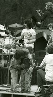 Mickey Hart with kids in foreground