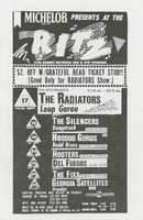 Ritz, September / The Radiators, Loup Garou - The Silencers, Dumptruck - Hoodoo Gurus, Redd Kross - Hooters, Del Fuegos - The Fixx, Georgia Satellites, Brandos