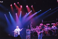 Grateful Dead: Phil Lesh, Bob Weir, Bill Kreutzmann (obscured), and Mickey Hart