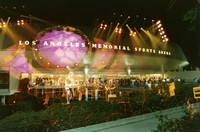 Grateful Dead: multiple exposure with the front of the Los Angeles Memorial Sports Arena