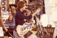 Grateful Dead: Bob Weir, with Donna Godchaux and Keith Godchaux in the background