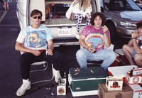 "Deadheads with vehicle with ""US BLUS 2"" Illinois license plate, ca. 1990"