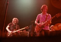 Grateful Dead: Jerry Garcia and Bob Weir, with Bill Kreutzmann in the background