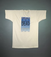 "T-shirt: ""Uniondale Exit"" - skeleton band, metro station. Back: ""Grateful Dead / Nassau Coliseum / March 23-28, 1994"" -stealies"
