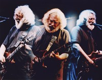 Jerry Garcia: multiple exposure print