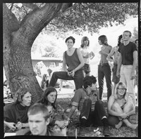 Olompali party-goers, including Phil Lesh, Bob Weir, Ben Van Meter, Sue Swanson, and others