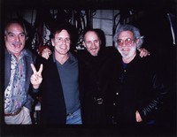 Bill Kreutzmann, Bob Weir, Pete Townshend, and Jerry Garcia