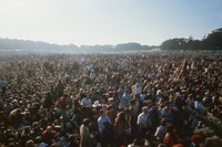 Human Be-In, Golden Gate Park, January 14, 1967: crowd at outdoor concert