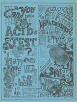 Can you pass the acid test? The happeners are likely to include: The Fugs, Allen Ginsberg, The Merry Pranksters, Neal Cassady, Roy's Audioptics, The Grateful Dead - Muir Beach