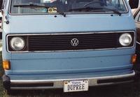 "Deadhead vehicle with ""DUPREE"" Virginia license plate, ca. 1991"