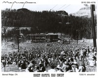 "Grateful Dead at Boreal Ridge: distant view of the stage: promotional photo for ""Music Futures Presents"""