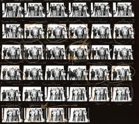Grateful Dead: Brent Mydland, Phil Lesh, Bill Kreutzmann, Bob Weir, Jerry Garcia, Mickey Hart: contact sheet with 34 images