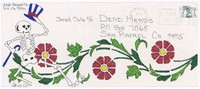 Decorated envelope addressed to Janet Soto