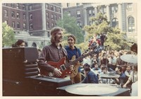 Grateful Dead at the Columbia University student strike: Phil Lesh and Bob Weir