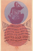Krishna Consciousness Comes West - Swami Bhaktivedanta, Allen Ginsberg, The Grateful Dead, Moby Grape, Big Brother & the Holding Company, Mantra-Rock Dance - Lights by Ben Van Meter & Roger Hillyard - January 29 [1967] - Avalon Ballroom