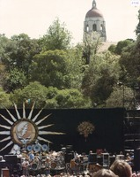 Grateful Dead at the Frost Amphitheatre, with Hoover Tower in the background