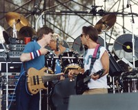 Grateful Dead: Phil Lesh and Bob Weir, with Bill Kreutzmann in the background