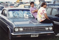 "Deadheads with vehicle with ""PASSNGR"" Illinois license plate, ca. 1991"