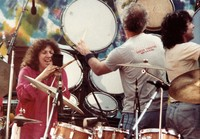 "Grateful Dead: Flora Purim, Bill Kreutzman and Mickey Hart during ""Drumz"""