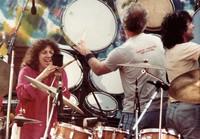 "Grateful Dead: Flora Purim, Bill Kreutzman and Mickey Hart during ""Drumz"""
