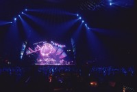 Grateful Dead, ca. 1994: distant view of the stage