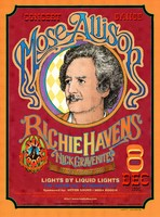 Mose Allison, Richie Havens, Nick Gravenites. Lights by Liquid Lights. December 8, 1995, Maritime Hall, San Francisco