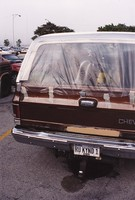 "Deadhead vehicle with ""RU KYND 1"" Illinois license plate, ca. 1991"