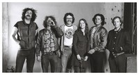 "Grateful Dead crew at Club Front: Steve Parish, Larry ""Ram Rod"" Shurtliff, Harry Popick, Betty Cantor-Jackson, Bill ""Kidd"" Candelario, and John Hagen"