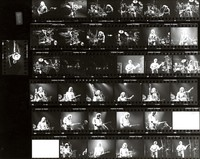 Grateful Dead, ca. 1980s: contact sheet with 37 images