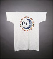 "T-shirt: Sun, moon, stealie. Back: ""Grateful Dead / Summer Tour 94"" - moon"