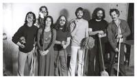 Grateful Dead publicity shoot at Club Front: Mickey Hart, Phil Lesh, Donna Godchaux, Keith Godchaux, Bob Weir, Jerry Garcia, Bill Kreutzmann