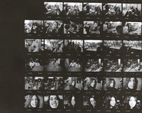 Grateful Dead during a three-day Dance Marathon, with Deadheads: contact sheet with 35 images
