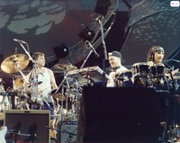 Mickey Hart and two unidentified musicians