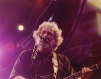 "Jerry Garcia performing ""Althea"" during the first set"