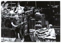 Grateful Dead, ca. 1980s: Jerry Garcia, Mickey Hart, and Brent Mydland