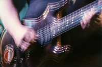 "Jerry Garcia's guitar ""Lightning Bolt"": double exposure"
