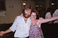 Brent Mydland with an unidentified woman