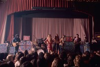"Grateful Dead: Jerry Garcia, Bill Kreutzmann, Phil Lesh, Bob Weir, Ron ""Pigpen"" McKernan, with two unidentified women"