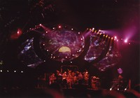 Grateful Dead at the Oakland Coliseum Arena: distant view of the stage