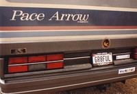 "Deadhead vehicle with ""GR8FUL"" New York license plate, ca. 1990"