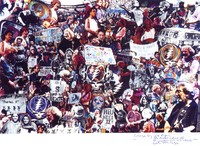 Deadhead collage of images covering shows from Giants Stadium, 1991, to Philadelphia, 1994