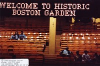 "Grateful Dead at Boston Garden: view of the ""Welcome To Historic Boston Garden"" marquee"