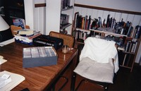 Grateful Dead office at 1061 Lincoln Street, ca. 1990s: box of tickets