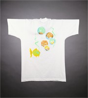 "T-shirt: ""Grateful Dead"" - scuba skeleton, manatees. Back: ""Spring 1994"" fish, bubbles [April 3 concert was canceled]"