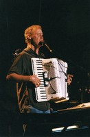 Bruce Hornsby with an accordion
