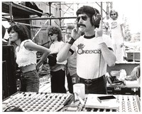 Mickey Hart at the mixing console