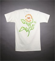 "T-shirt: daisies and bugs. Back: ""Spring Tour 93 / Grateful Dead"" - flower"