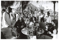 Grateful Dead in Egypt: Jerry Garcia and Mountain Girl with others relaxing in Giza