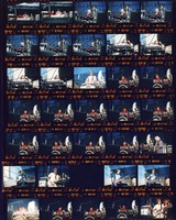 Grateful Dead at the Seattle Center Memorial Stadium: contact sheet with 34 images