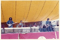 Grateful Dead: Jerry Garcia, Bob Weir, Bill Kreutzmann, Phil Lesh, with unidentified man